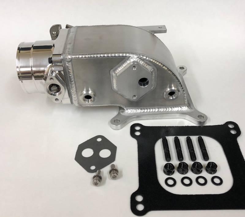 75mm Elbow / Throttle Body Combo for 2V Edelbrock Victor Jr