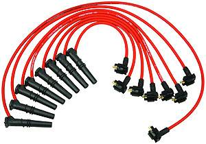Ford Racing - Ford Racing - M-12259-R462 - 9mm 1996-98 Mustang GT 4.6L 2V Spark Plug Wires - Red