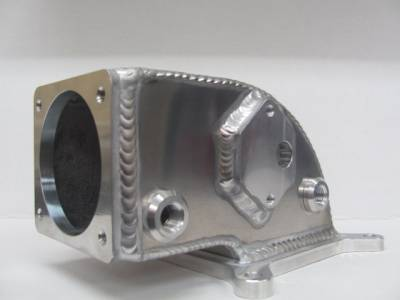 Modular Head Shop - 6061 Custom Elbow For Edelbrock Victor Jr - 75mm