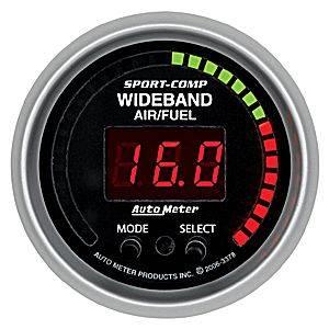 "Autometer - Auto Meter 3378 Sport-Comp Series Digital 2 1/16"" PRO Wideband A/F Kit"