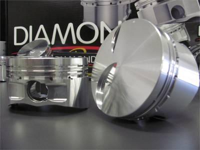 "Diamond Racing Products - Diamond 4.6L 2V Street / Strip Flat Top Pistons - Big Bore 3.700"""