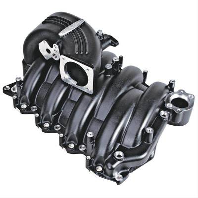 Trick Flow Specialties - Trick Flow TFS-51811000 Street Burner Intake Manifold - Black Powdercoat