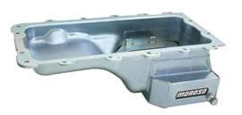 Moroso - Moroso 4.6L / 5.4L Street / Strip Steel Oil Pan Clear Zinc Finish