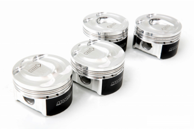 Manley - Manley 637000C-4 Platinum Series Ford 2.3L EcoBoost Pistons -8.2cc Dish, 87.5mm Bore