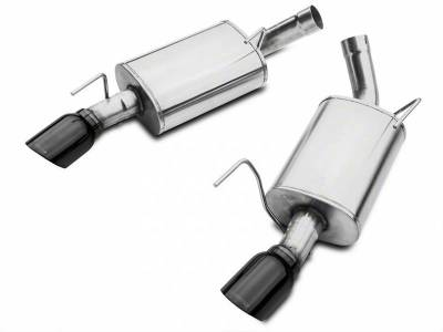 Corsa - Corsa Performance 14314BLK 2005 - 2010 Mustang GT / GT500 Xtreme Axle-Back Exhaust with Black Tips