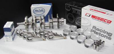 Modular Head Shop - Modular Head Shop 600 HP 5.0L Stroker Rotating Assembly - Eagle Cast Steel Crankshaft, Eagle Forged 4340 H-Beam Rods and Custom Wiseco Pistons