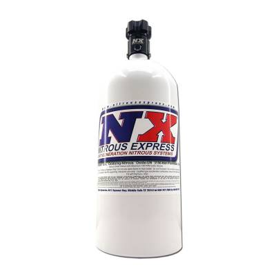 Nitrous Express 11100 - 10lb Bottle w/ Lightning 500 Valve