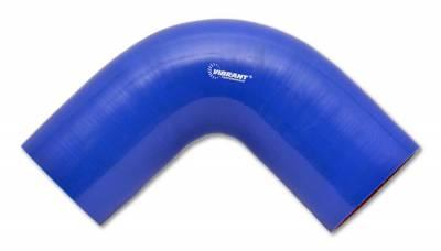 "Vibrant Performance - Vibrant Performance 2741B - 90 Degree Elbow, 2.25"" ID x 4"" Leg Length - Blue"