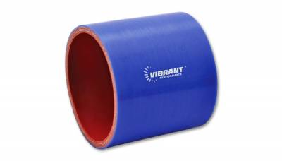 "Vibrant Performance - Vibrant Performance 2716B - Straight Hose Coupler, 3.5"" ID, 3"" Length - Blue"