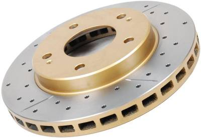 Disc Brakes Australia  - DBA 855BLKX - Drilled & Slotted Street Series Rotors - 1994 - 2004 Ford Mustang V6 / GT - Front