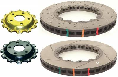 Disc Brakes Australia  - DBA 52124.1XS - 5000 Series Drilled and Slotted Replacement Rotors - 2011-2013 Ford Mustang GT 5.0L - Front