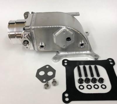 Modular Head Shop - 75mm Elbow / Throttle Body Combo for 2V Edelbrock Victor Jr.