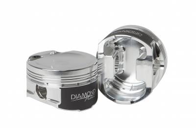 "Diamond Racing Products - Diamond 30801 - 5.8L Shelby Series Piston / Ring Kit -25.0cc Dish, 3.681"" Bore"