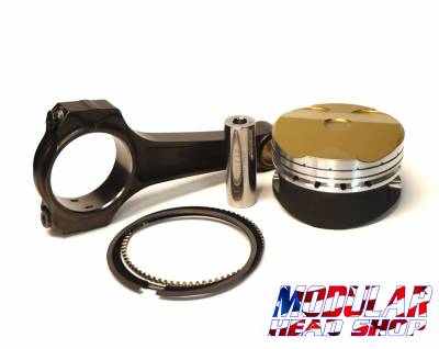 Modular Head Shop - Modular Head Shop 5.0L Coyote All American Competition Piston and Rod Combo