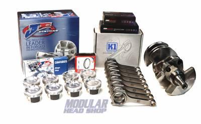 Modular Head Shop - Modular Head Shop 5.4L 1000+ HP Rotating Assembly - Cobra Jet Crankshaft, K1 H-Beam Rods, JE FSR Pistons, King XP Bearings