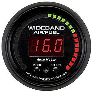"Air/Fuel Wideband Gauges - Autometer - Auto Meter 5978 ES Series Digital 2 1/16"" PRO Wideband A/F Kit"