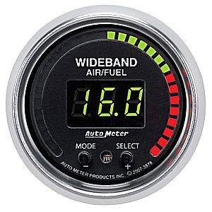 "Air/Fuel Wideband Gauges - Autometer - Auto Meter 3878 GS Series Digital 2 1/16"" PRO Wideband A/F Kit"