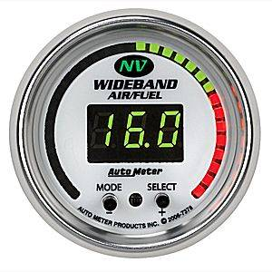 "Air/Fuel Wideband Gauges - Autometer - Auto Meter 7378 NV Series Digital 2 1/16"" PRO Wideband A/F Kit"