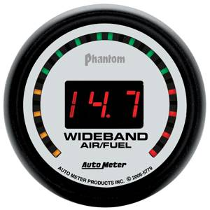 "Air/Fuel Wideband Gauges - Autometer - Auto Meter 5779 Phantom Series Digital 2 1/16"" STREET Wideband A/F Kit"