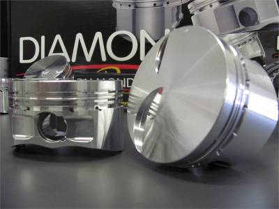 4.6L / 5.4L 2V, 3V and 4V Pistons - Old Part Numbers  - 4.6L / 5.4L Street / Strip - Flat Top Pistons - Diamond Racing Products - Diamond 4.6L 2V Street / Strip Flat Top Pistons - Standard Bore