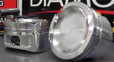 "4.6L / 5.4L 2V, 3V and 4V Pistons - Old Part Numbers  - Custom 5.4L Specific Pistons - Diamond Racing Products - Custom Diamond 5.4L Specific Pistons, -5.2cc Dish - .030"" Over Bore"