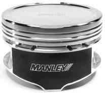 "Manley Platinum Series Pistons - 4.6L 3V Platinum Series Pistons - Manley - Manley 594500C-8 4.6L 3 Valve Platinum Series -14cc Dish Turbo Series Pistons 3.552"" Bore"