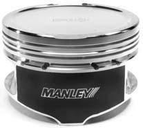 "Manley Platinum Series Pistons - 4.6L 3V Platinum Series Pistons - Manley - Manley 595570C-8 4.6L 3 Valve Platinum Series -18cc Dish Stroker Turbo Series Pistons 3.700"" Big Bore"