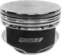 "Manley Platinum Series Pistons - 4.6L Stroker Series Pistons - Manley - Manley 595000C-8 4.6L Stroker Platinum Series Flat Top Pistons 3.552"" Bore"