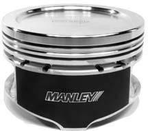"Manley Platinum Series Pistons - 4.6L Stroker Series Pistons - Manley - Manley 595100C-8 4.6L Stroker Platinum Series -11cc Dish Pistons 3.552"" Bore"