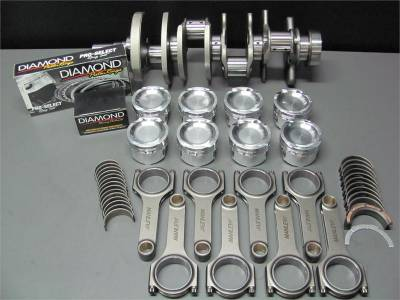 Engine Parts - Rotating Assemblies - Excessive Motorsports  - Excessive Motorsports 1000 HP 4.6L 3V Rotating Assembly - Eagle Forged 8 Bolt Crankshaft, Manley 4340 H-Beam Rods and Diamond 3V Specific Pistons