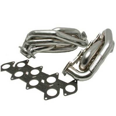 "BBK - BBK 16120 05-10 Mustang GT 4.6L 3V Shorty Headers - 1-5/8"" - Polished Ceramic Finish"