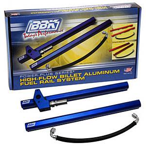 Fuel System - Fuel Rails - BBK - BBK 5015 1996-98 Mustang GT 4.6L 2V High Flow Billet Aluminum Fuel Rail Kit