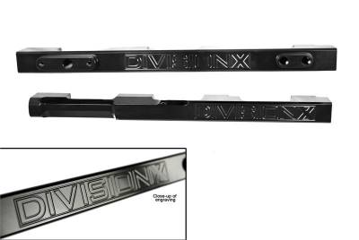 DivisionX - DivisionX 99-04 4V Cobra / Mach-1 High Flow Fuel Rails - Black Anodized