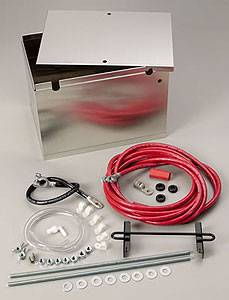 Ignition & Electrical - Battery Relocation Kits - Taylor 48101 - Aluminum Battery Relocation Box - 2 Gauge