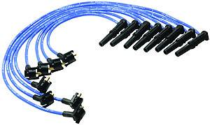 Ford Racing - Ford Racing - M-12259-C462 - 9mm 1996-98 Mustang GT 4.6L 2V Spark Plug Wires - Blue