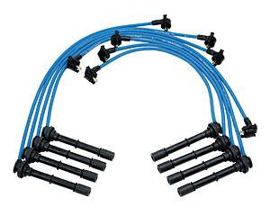 Ignition & Electrical - Spark Plug Wires - Ford Racing - Ford Racing - M-12259-C464 - 9mm 1996-98 Mustang Cobra 4.6L 4V Spark Plug Wires - Blue