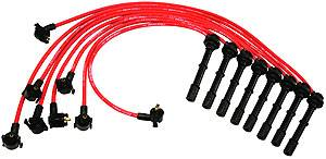 Ignition & Electrical - Spark Plug Wires - Ford Racing - Ford Racing - M-12259-R464 - 9mm 1996-98 Mustang Cobra 4.6L 4V Spark Plug Wires - Red