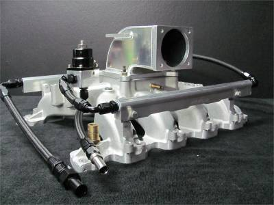 Intake & Components - Intake Manifolds - Modular Head Shop - MHS Edelbrock 4.6L 2V Intake Manifold Combo - Return Style with Regulator - 75mm