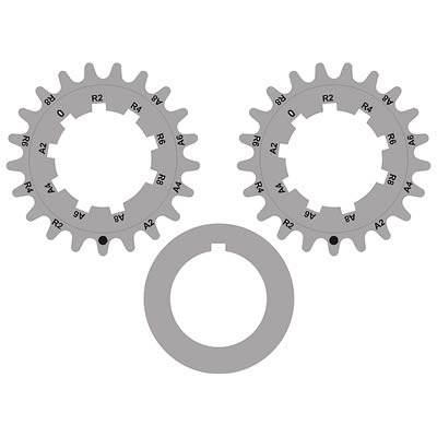 Valve Train / Timing Components - Timing Chains, Sprockets, Guides and Tensioners - Modular Head Shop - TFS Billet Steel 2V / 4V Adjustable Crankshaft Gears