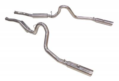 1996 - 1998 GT / Cobra Exhaust  - 1996 - 1998 Mustang GT / Cobra Cat Back Exhaust  - Pypes - Pypes SFM29V 1979 - 2004 Mustang GT / Mach 1 Pype Bomb Cat-Back System