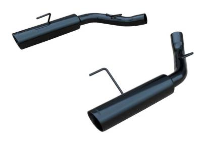 2005 - 2010 Mustang GT Exhaust  - 2005 - 2010 Mustang GT Axle Back Exhaust  - Pypes - Pypes SFM60MSB 2005 - 2010 Mustang GT / Shelby GT500 Pype Bomb Axle-Back Exhaust - Phantom Series