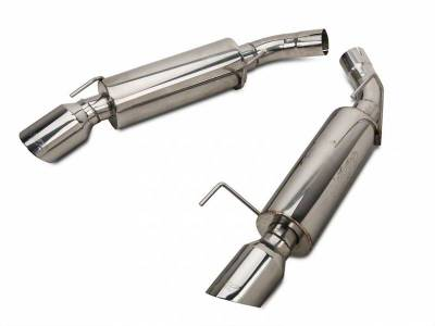 2005 - 2010 Mustang GT Exhaust  - 2005 - 2010 Mustang GT Axle Back Exhaust  - MBRP - MBRP S7200304 2005 - 2010 Mustang GT / Shelby GT500 Pro Series Stainless Steel Axle-Back Exhaust