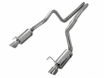 2005 - 2010 Mustang GT Exhaust  - 2005 - 2010 Mustang GT Cat Back Exhaust  - MBRP - MBRP S7270409 2005 - 2009 Mustang GT / Shelby GT500 Race Series Stainless Steel Cat-Back Exhaust