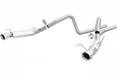 2005 - 2010 Mustang GT Exhaust  - 2005 - 2010 Mustang GT Cat Back Exhaust  - Magnaflow - Magnaflow 15883 2005 - 2009 Mustang GT / Shelby GT500 Competition Series Cat-Back Exhaust