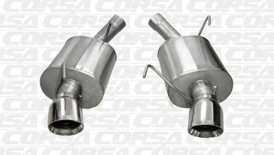 Corsa - Corsa Performance 14311 2005 - 2010 Mustang GT / GT500 Sport Axle-Back Exhaust - Image 2