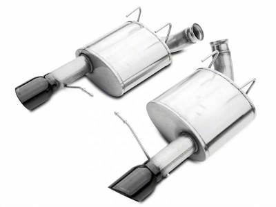 Corsa - Corsa Performance 14316BLK 2011 - 2014 Mustang GT Sport Axle-Back Exhaust with Black Tips - Image 1