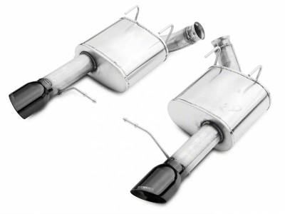 Corsa - Corsa Performance 14317BLK 2011 - 2014 Mustang GT Xtreme Axle-Back Exhaust with Black Tips