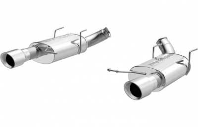 2007 - 2014 Shelby GT500 Exhaust  - 2007 - 2014 Shelby GT500 Axle Back Exhaust  - Magnaflow - Magnaflow 15593 2011 - 2012 Mustang GT / Shelby GT500 Street Series Axle-Back Exhaust