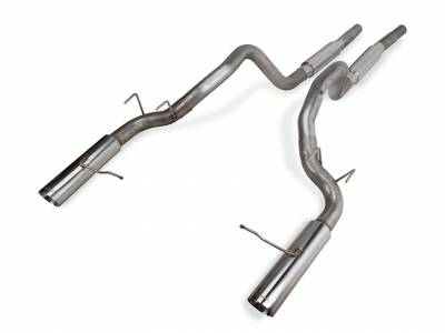 2011+ Mustang GT 5.0L Exhaust  - 2011 - 2014 Mustang GT Cat Back Exhaust  - Pypes - Pypes SFM76M 2011 - 2014 Mustang GT Super System Cat-Back Exhaust