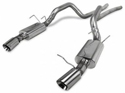 2011+ Mustang GT 5.0L Exhaust  - 2011 - 2014 Mustang GT Cat Back Exhaust  - Kooks  - Kooks 11404200 2011 - 2014 Mustang GT / 2011 - 2012 Shelby GT500 Performance Stainless Steel Cat Back Exhaust System